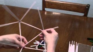 Icosahedron (Straw And Pipe Cleaners)