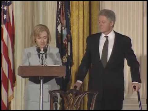 Pres. Clinton at WH Conf. on Childhood Development (1997)