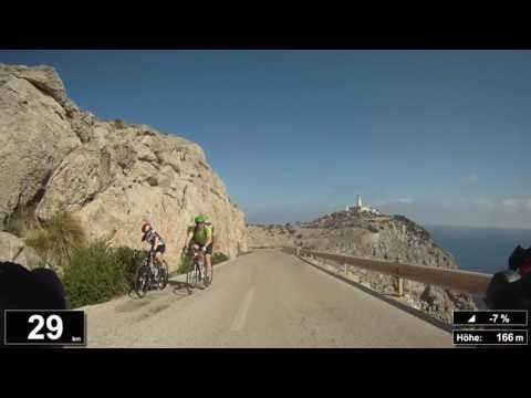 Indoor Cycling Training: Cap Formentor (Mallorca/Espana) - in full length!!! (Part 3/4)