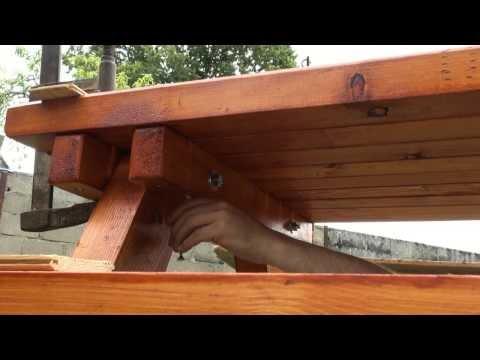 bricolage table pique nique - YouTube