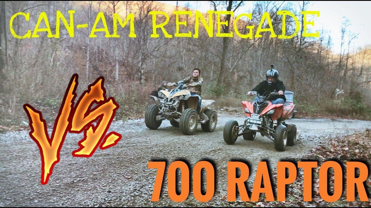 ATV Drag Racing: 700 Raptor Vs Can Am Renegade 800 + More ...