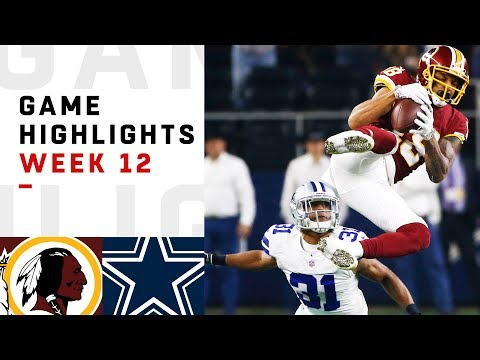 Redskins vs. Cowboys Week 12 Highlights | NFL 2018