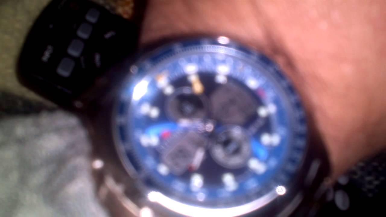 b0bde688b80 Relogio citizen promaster combo temp vizor a azu - YouTube