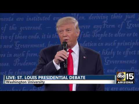 Presidential Debate - First mention - Donald Trump on BILLY BUSH TAPE - Hillary Clinton