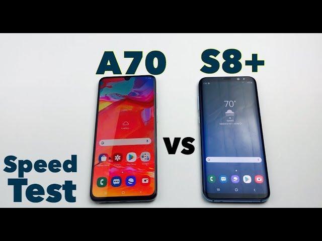 Samsung A70 Vs S8 Speed Comparison Youtube