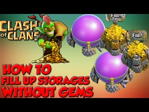 Clash of Clans- How to Fill Up/Max Out Storages Without Gems- Best Resources Raiding Strategy