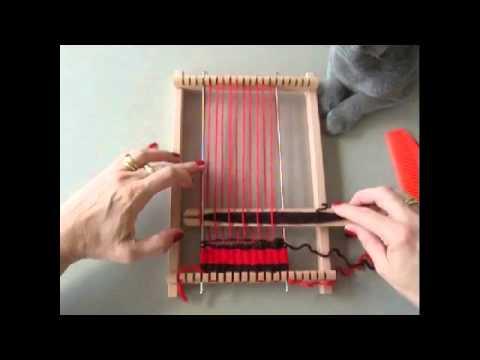 Assez Utilisation petit métier à tisser - YouTube JL48