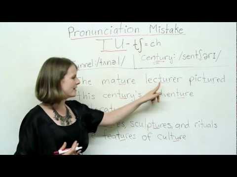 Pronunciation - TU - culture, lecture, actually, fortune...