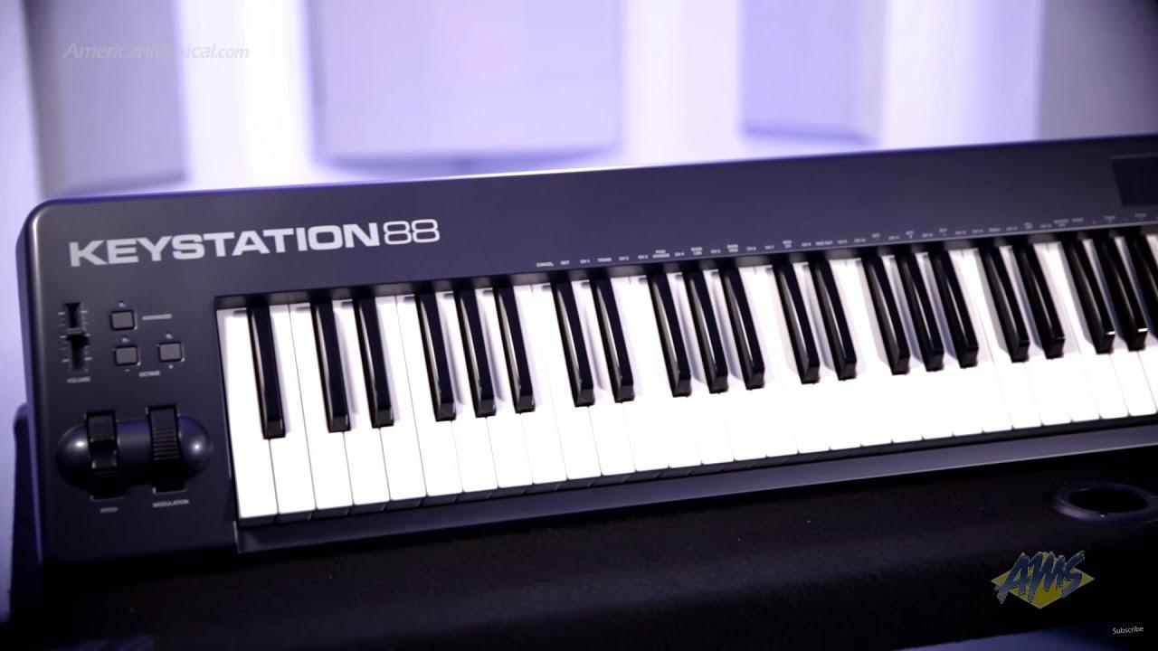 m audio keystation 88 usb midi controller keyboard m audio keystation youtube. Black Bedroom Furniture Sets. Home Design Ideas
