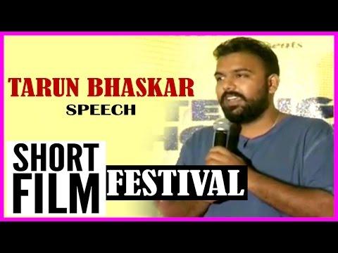 Tharun Bhascker Speech @ Telugu Short Film...
