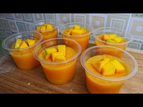 Resep Puding Mangga Cup - Cocok untuk Acara arisan dan kumpul - kumpul