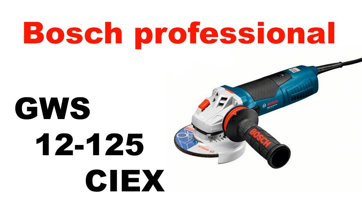 bosch professional gws 12 125 ciex youtube. Black Bedroom Furniture Sets. Home Design Ideas