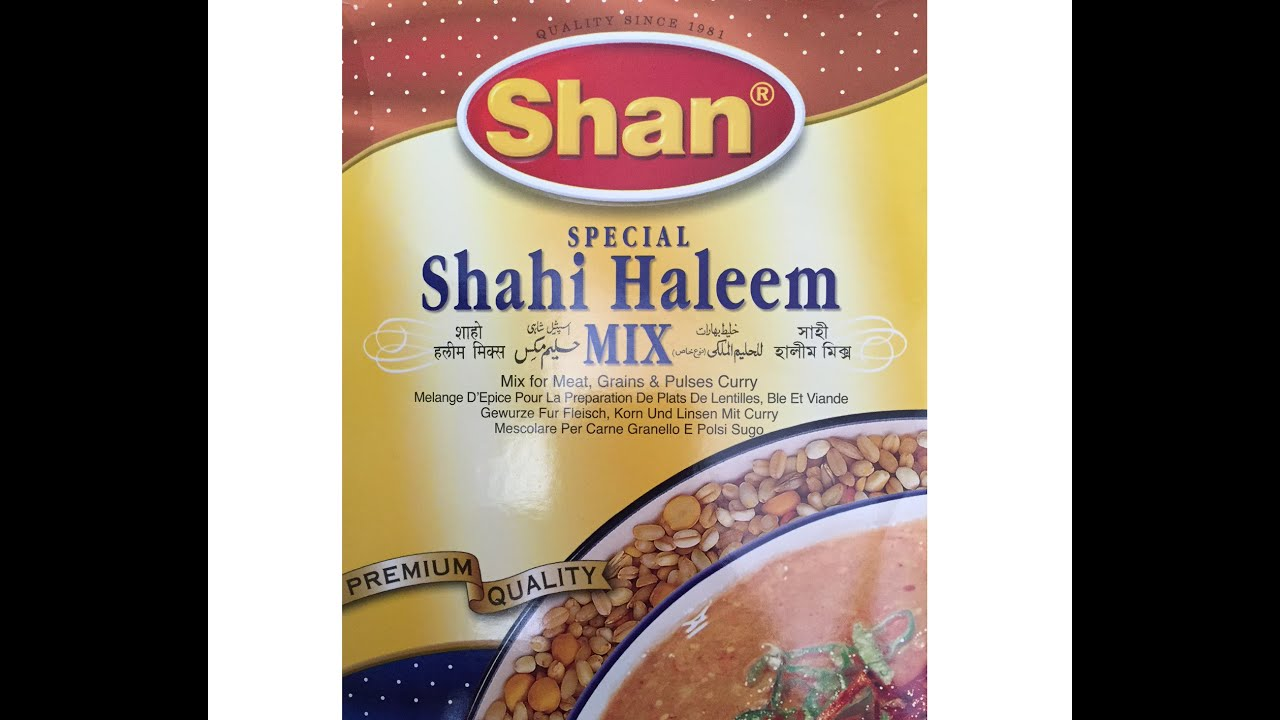 Shan special shahi haleem mix easy to follow recipe youtube forumfinder Images