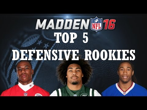 TOP 5 DEFENSIVE ROOKIES ACCORDING TO MADDEN
