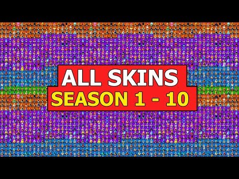 *ALL* SKINS In FORTNITE BATTLE ROYALE (SEASON 1 - 10) *SHOWCASE*