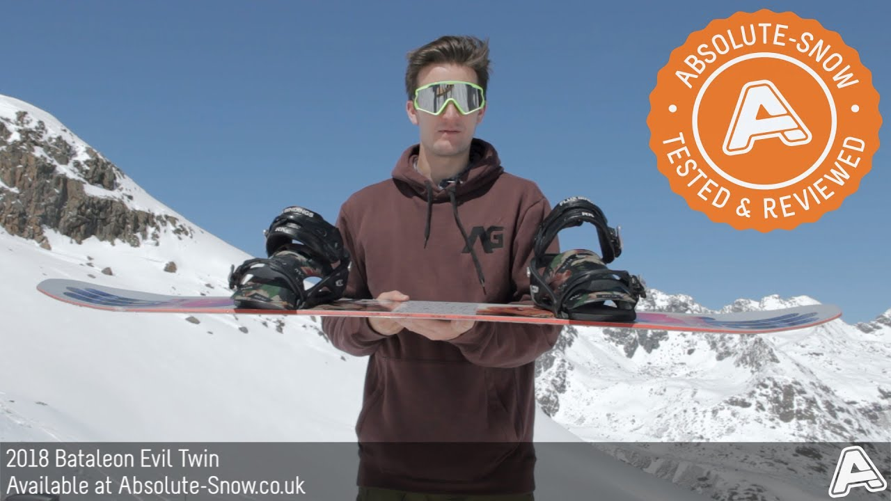 2017 / 2018 | Bataleon Evil Twin Snowboard | Video Review - YouTube