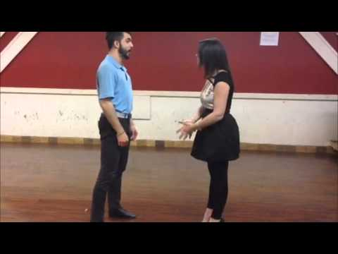 Claudia took a private salsa dance lesson at San Tropez dance studio downtown