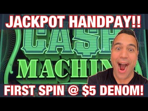 CASH MACHINE $10 & $50 BETS!!  JACKPOT HANDPAY!!!