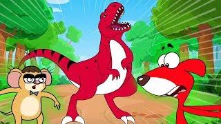 -Tat |'Korkunç T-Rex Dinozor Karikatür Köpek Devriye Sen Daha'| Chotoonz Çocuk Komik Çizgi Film Videoları Bir Sıçan
