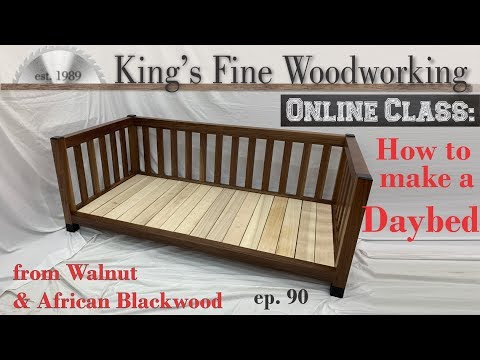 90 - DIY Daybed from Walnut and African Blackwood Mortise and Tenon joinery