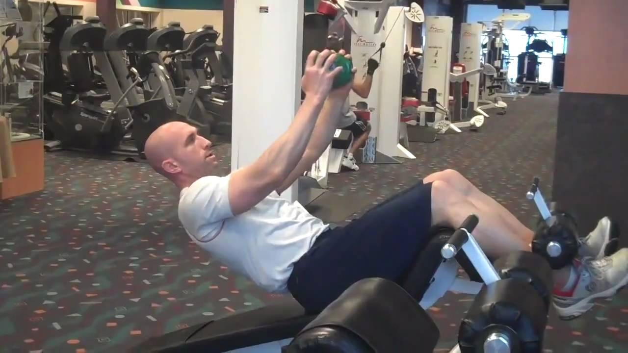 Trunk Rotations On Decline Bench Youtube Free Weights Gfid71