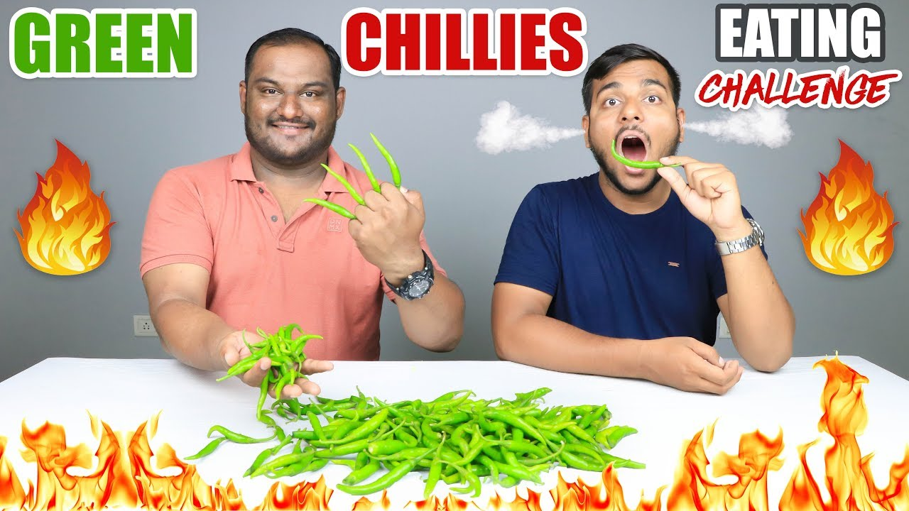 Epic Green Chillies Eating Challenge Green Chillies Eating Competition Food Challenge