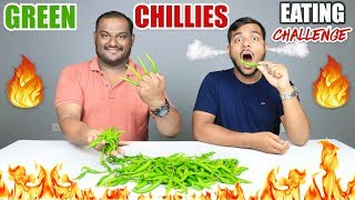EPIC GREEN CHILLIES EATING CHALLENGE | Green Chillies Eating Competition | Food Challenge