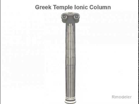 Greek ionic temple column 3D model from CGTrader.com