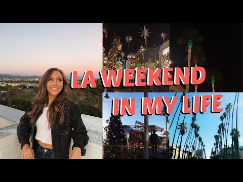 LA WEEKEND IN MY LIFE VLOG DURING CHRISTMAS TIME   THE GROVE, MANHATTAN BEACH & MORE!