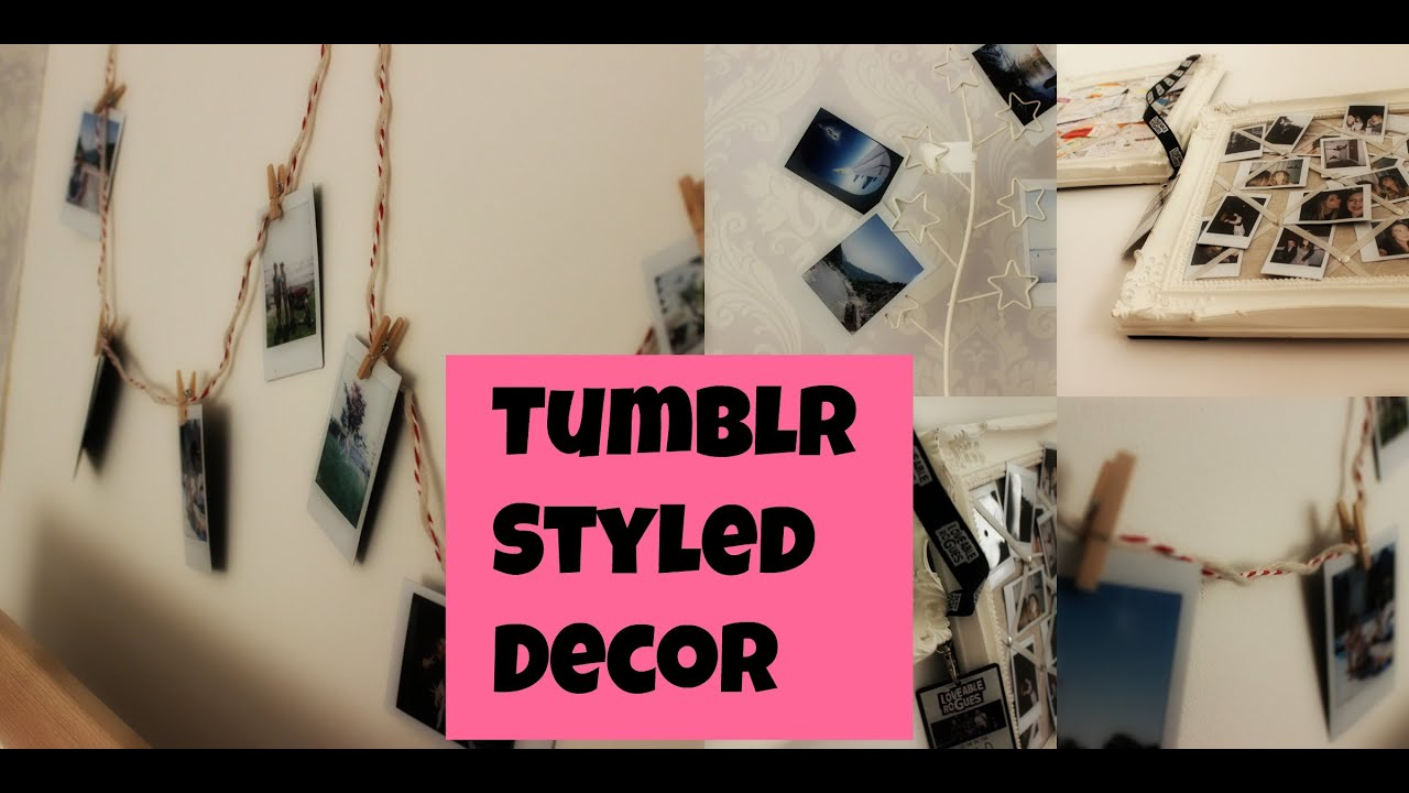 Tumblr Styled Decor | Things To Do With Your Polaroids and Other ...