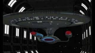 Enterprise D Leaving Drydock [Raw - 4:3 Aspect Ratio]