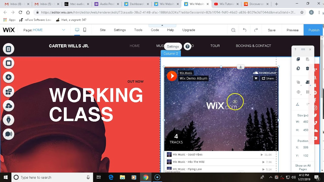 Wix Tutorial 2: Embedding a SoundCloud Player