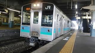 E127系信濃大町行松本駅発車
