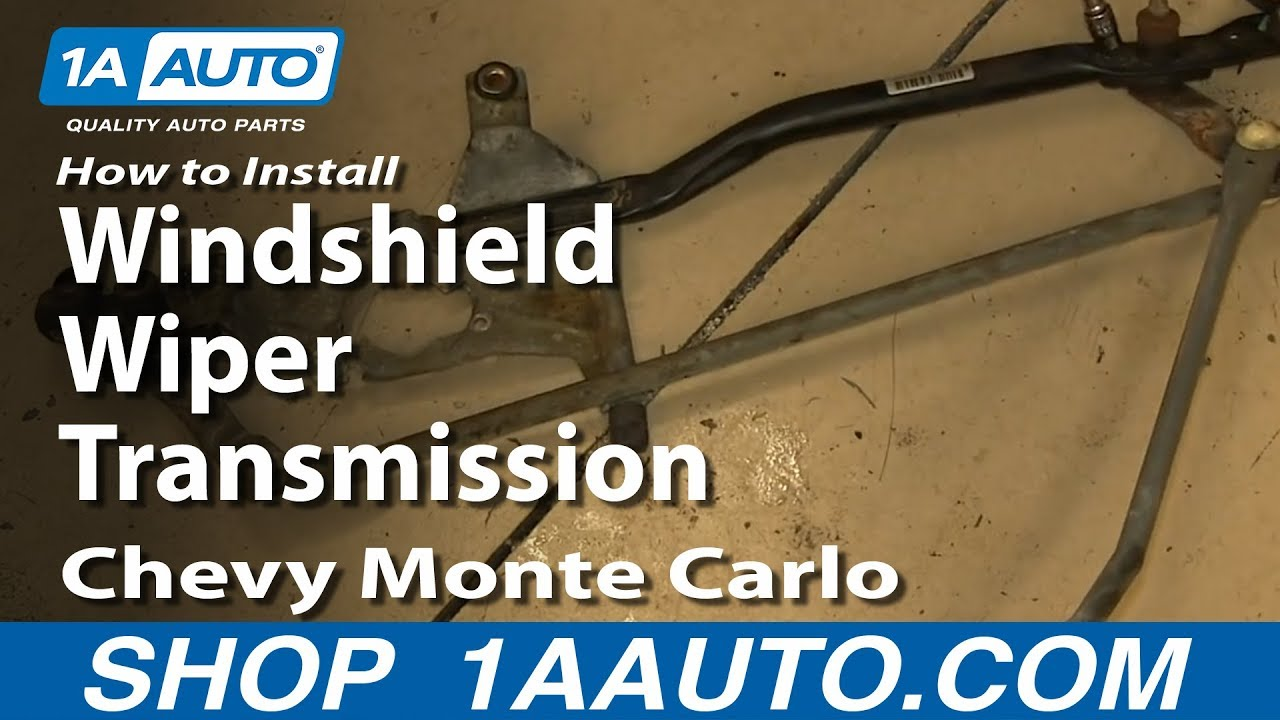 How To Install Replace Windshield Wiper Transmission 2000