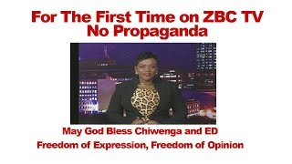connectYoutube - For The First Time On ZBC TV Zimbabwe Television No Propaganda, Freedom Of Expression Restored