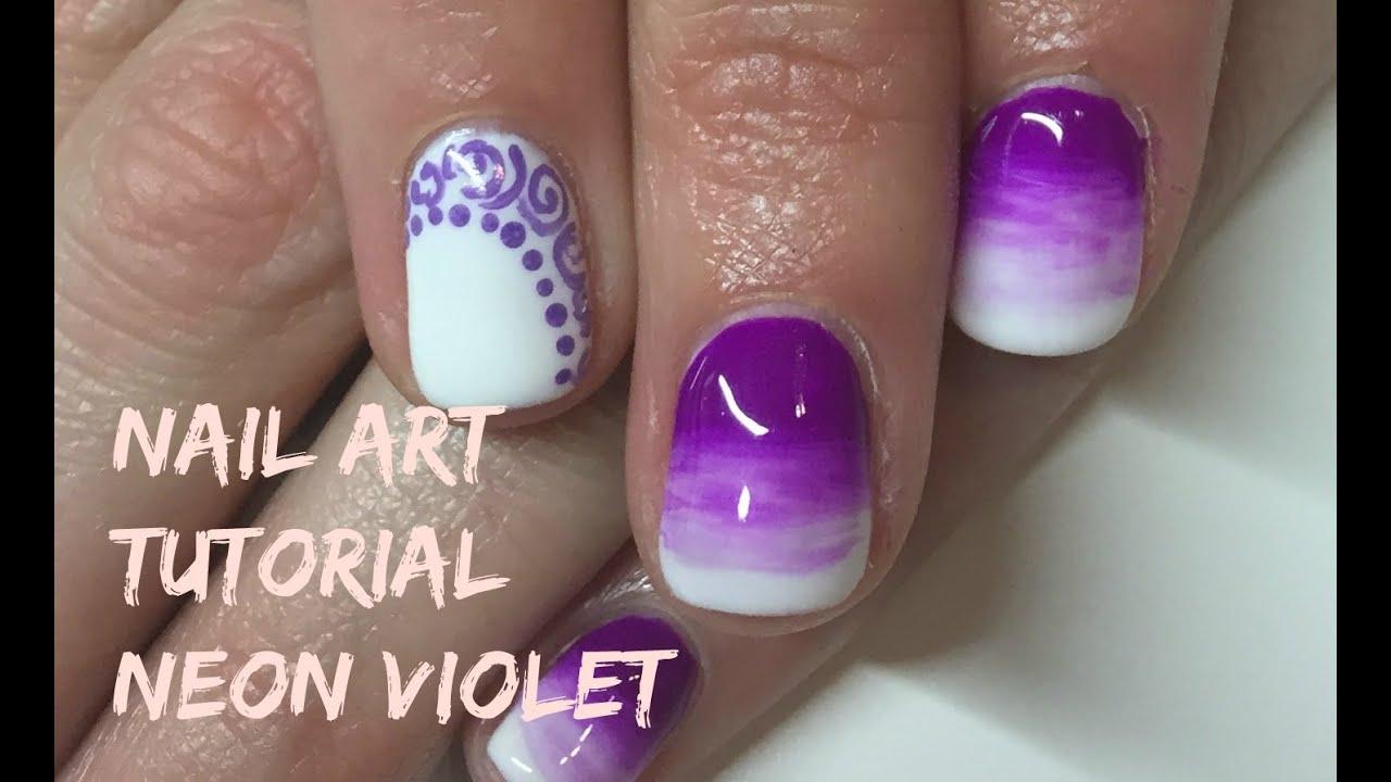 Diseño Con Esmalte Permanente Nail Art Tutorial Youtube