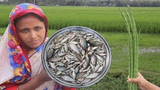 Small Fish & Drumstick Recipe | Panchmishali Country Fish Cooking | Healthy Village Vegetable Curry