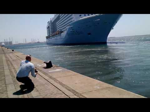 Ovation of the Seas sailing from Port Rashid berth 35