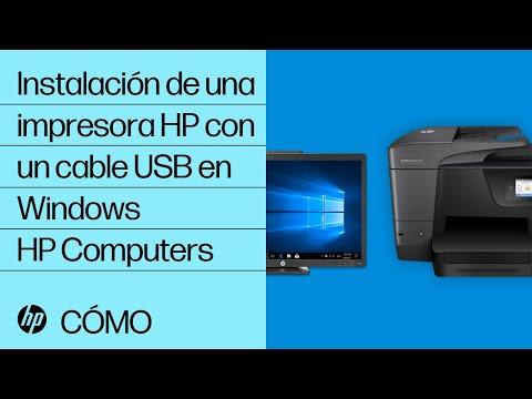 Instalación de una impresora HP con un cable USB en Windows | HP Computers | HP