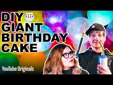 DIY GIANT Birthday Cake