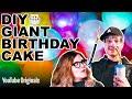🍰 DIY GIANT Birthday Cake
