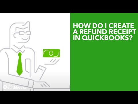 How Do I Create A Refund Receipt In QuickBooks YouTube - What does a quickbooks invoice look like online discount furniture stores