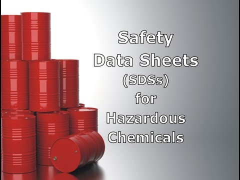 Safety Data Sheets (SDSs) For Hazardous Chemicals