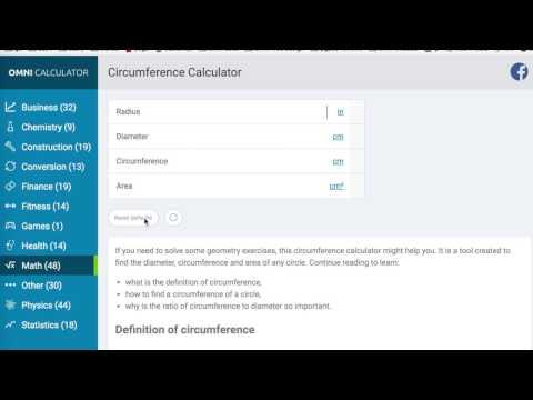 Circumference Calculator - Omni