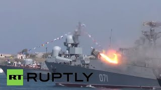 Russia: Russian Navy unleashes its firepower at Navy Day parade