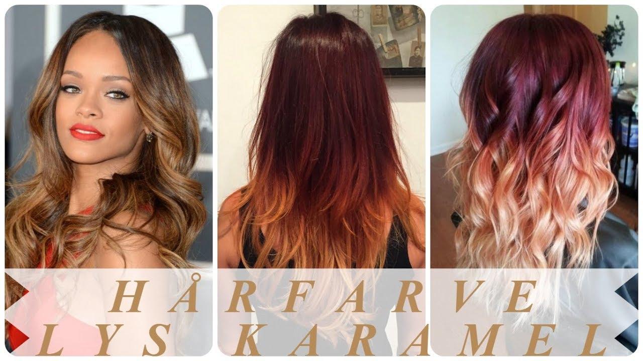 karamel farvet hår