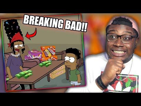 BART BECOMES WALTER WHITE! | The Johnson's 3 Cartoon Parody Reaction!