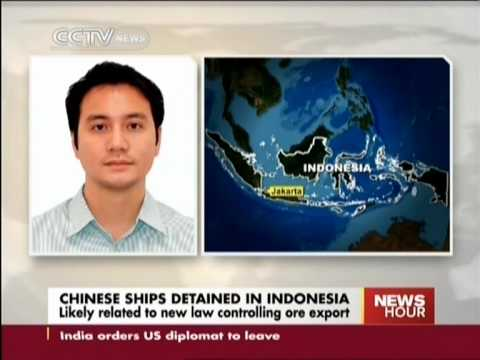 Chinese ships detained in Indonesia:Likely related to new law controlling ore export
