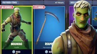 NEW BRAINIAC SKIN + REAPER PICKAXE RETURNS FORTNITE ITEM SHOP UPDATE (Fortnite Battle Royale)