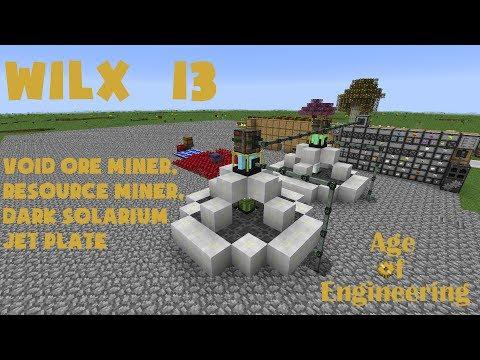 13 - Void Ore Miner and Resource Miner, Dark Solarium Jet Plate - Age of Engineering
